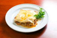 Lasagna.Italian royalty free stock photos