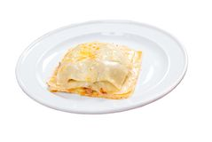Lasagna.Italian kitchen Royalty Free Stock Images