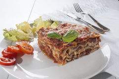 Lasagna Italian meal Royalty Free Stock Image