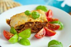 Lasagna italiano Foto de archivo