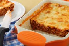 Lasagna italiano com carne Foto de Stock