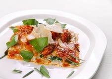 Lasagna italiano do alimento Fotografia de Stock Royalty Free