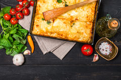 Lasagna italiano tradizionale Fotografia Stock Libera da Diritti