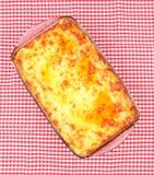 lasagna kulinarny szklany garnek Zdjęcia Stock