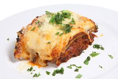 Lasagna or Lasagne Meal Stock Photo