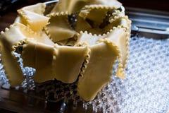 Lasagna makaronu ciasto lub prześcieradła obrazy stock