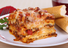 Lasagna Meal Stock Image