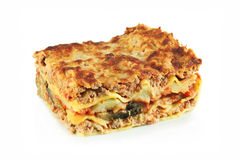 Lasagna with meat and eggplant Royalty Free Stock Image