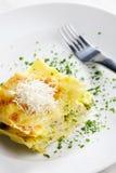 Lasagna met broccoli Stock Fotografie