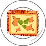 Lasagna mieszkania ikona Zdjęcia Royalty Free