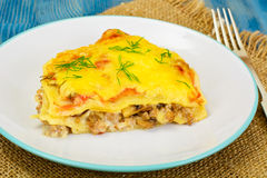 Lasagna with Minced Meat Royalty Free Stock Photography