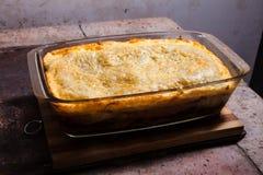 Lasagna na kuchence Zdjęcie Royalty Free