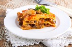 Lasagna na talerzu Obraz Royalty Free