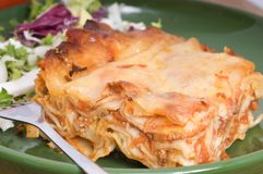 Lasagna on a plate Royalty Free Stock Photography