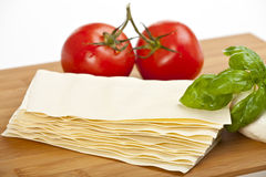 Lasagna plates Stock Photography