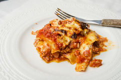 Lasagna portion Stock Photography