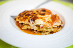 Lasagna portion Royalty Free Stock Image