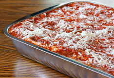 Lasagna ready to cook Royalty Free Stock Images