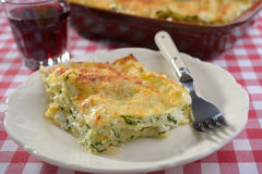 Lasagna with ricotta and spinach Stock Photography