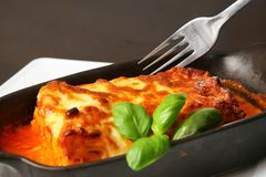 Lasagna's bolognese Stock Foto's