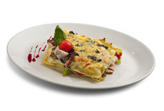 Lasagna's met zeevruchten Royalty-vrije Stock Afbeelding