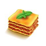 Lasagna's op witte vector royalty-vrije illustratie