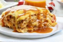 Lasagna's, traditionele Italiaanse schotel Stock Foto's