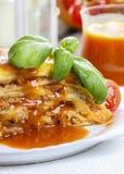 Lasagna's, traditionele Italiaanse schotel Royalty-vrije Stock Foto's