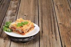 Lasagna saboroso imagens de stock royalty free