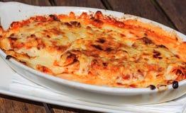 Lasagna'sal forno Stock Afbeelding