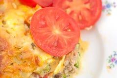 Lasagna And Salad Stock Photography