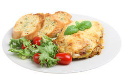Lasagna and Salad royalty free stock photos