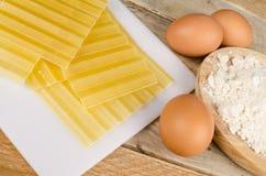 Lasagna sheets Royalty Free Stock Images
