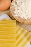 Lasagna sheets Royalty Free Stock Image