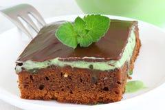 Lasagna. Sweet brownies or chocolate cakes. Shallow DOF stock image