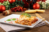 Lasagna with tomato and bechamel sauce Royalty Free Stock Images