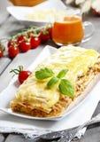 Lasagna, traditional italian dish Royalty Free Stock Images
