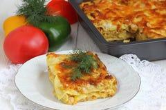 Lasagna. Traditional italian dish. Shallow DOF royalty free stock photo