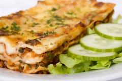 Lasagna tradizionale del manzo Fotografie Stock
