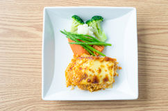 Lasagna. Vegetable Lasagna with carrot and vegetable Stock Photos