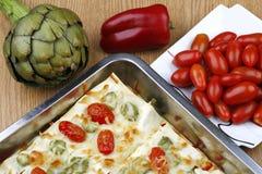 Lasagna vegetal Imagen de archivo libre de regalías
