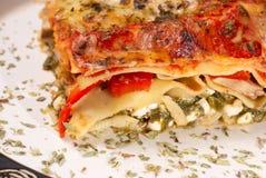 Lasagna vegetariano Fotografía de archivo