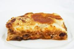 Lasagna vegetariano fotografia stock