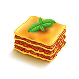 Lasagna  on white vector Royalty Free Stock Image