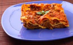 lasagne πιάτο Στοκ εικόνα με δικαίωμα ελεύθερης χρήσης