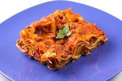 lasagne πιάτο Στοκ Φωτογραφία