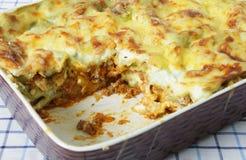 lasagne тарелки Стоковые Изображения RF