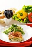 Lasagne Stockbild