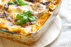Lasagne stock images