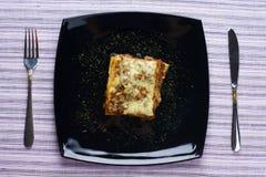 Lasagne stockfotografie